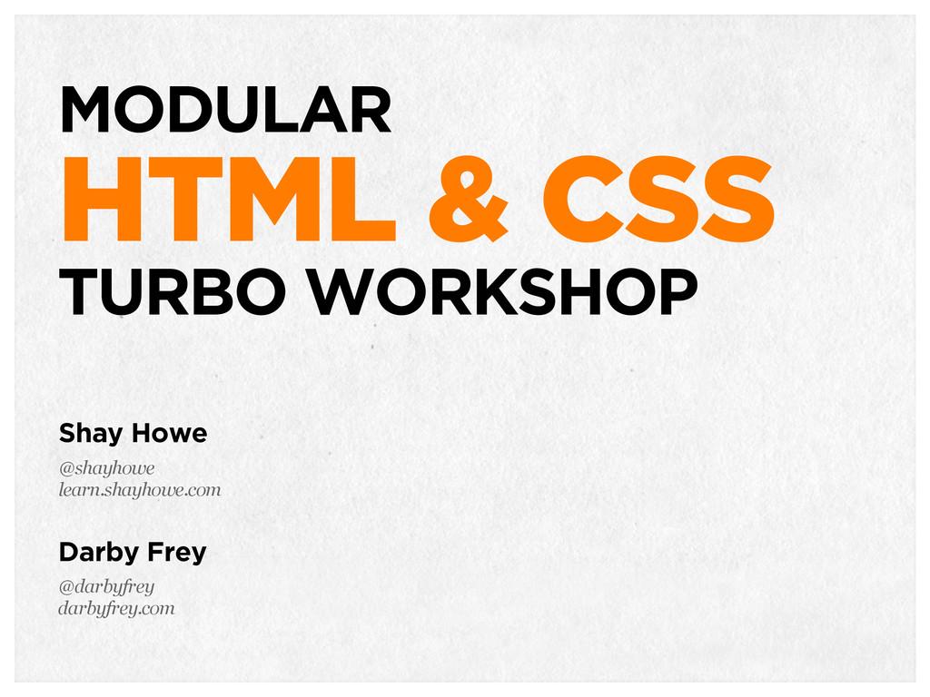 TACTICAL HTML & CSS MODULAR HTML & CSS TURBO WO...