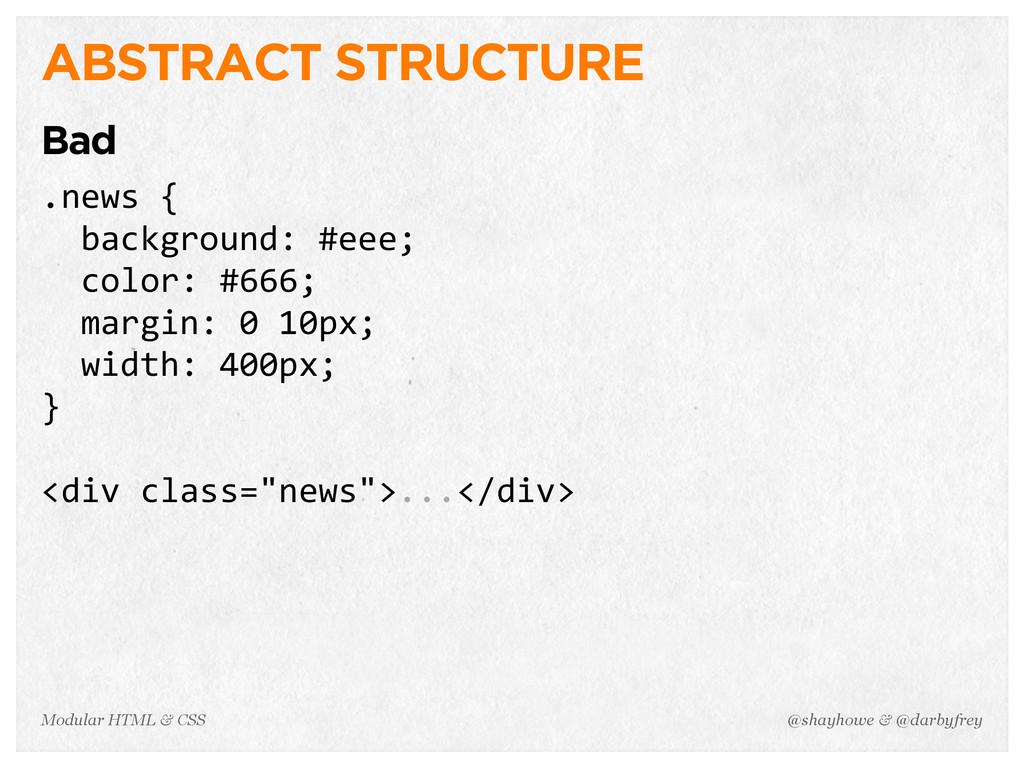 @shayhowe & @darbyfrey Modular HTML & CSS ABSTR...