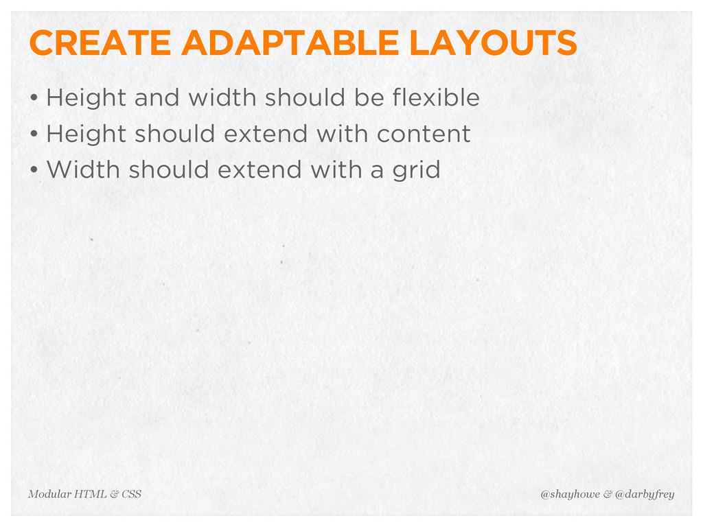@shayhowe & @darbyfrey Modular HTML & CSS CREAT...