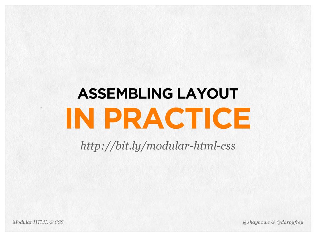 @shayhowe & @darbyfrey Modular HTML & CSS ASSEM...