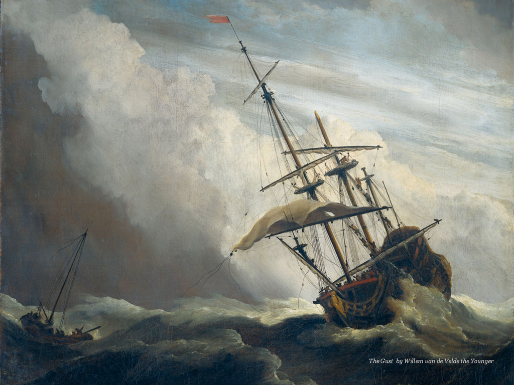 The Gust by Willem van de Velde the Younger