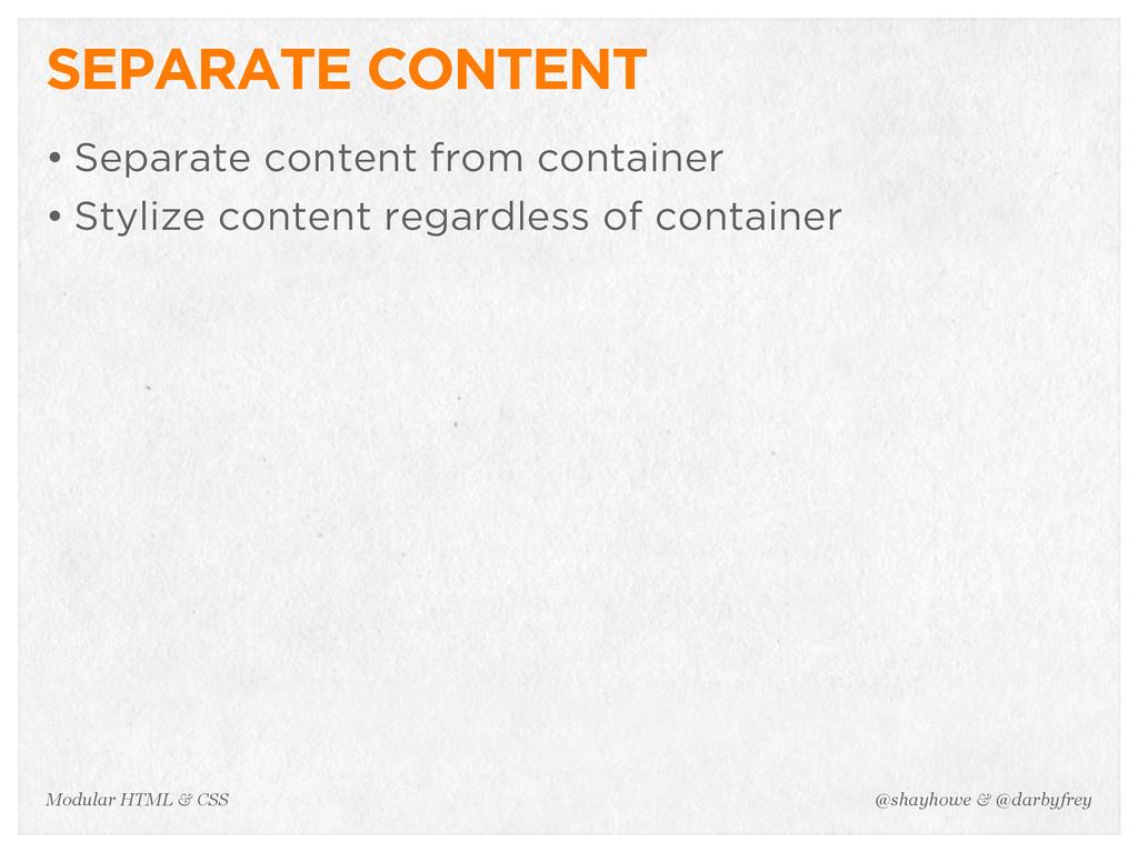 @shayhowe & @darbyfrey Modular HTML & CSS SEPAR...