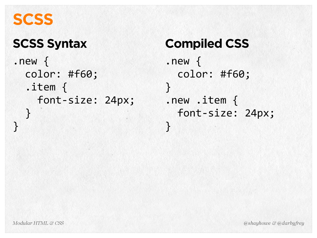 @shayhowe & @darbyfrey Modular HTML & CSS SCSS ...