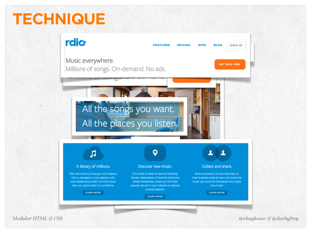 @shayhowe & @darbyfrey Modular HTML & CSS TECHN...