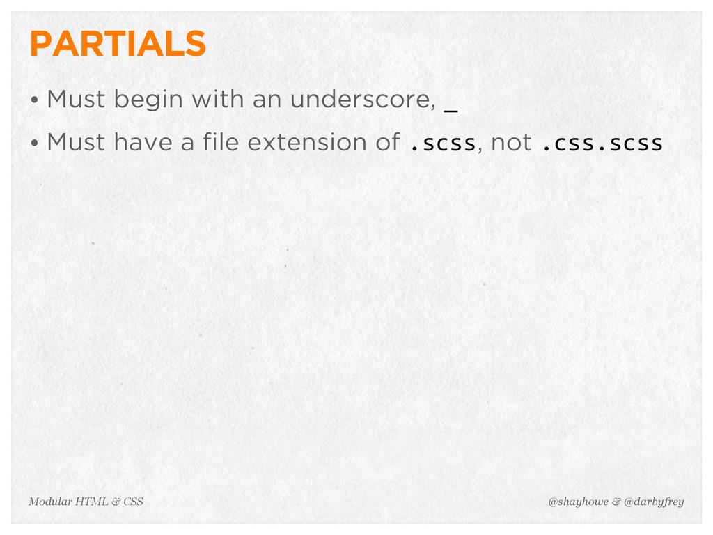 @shayhowe & @darbyfrey Modular HTML & CSS PARTI...