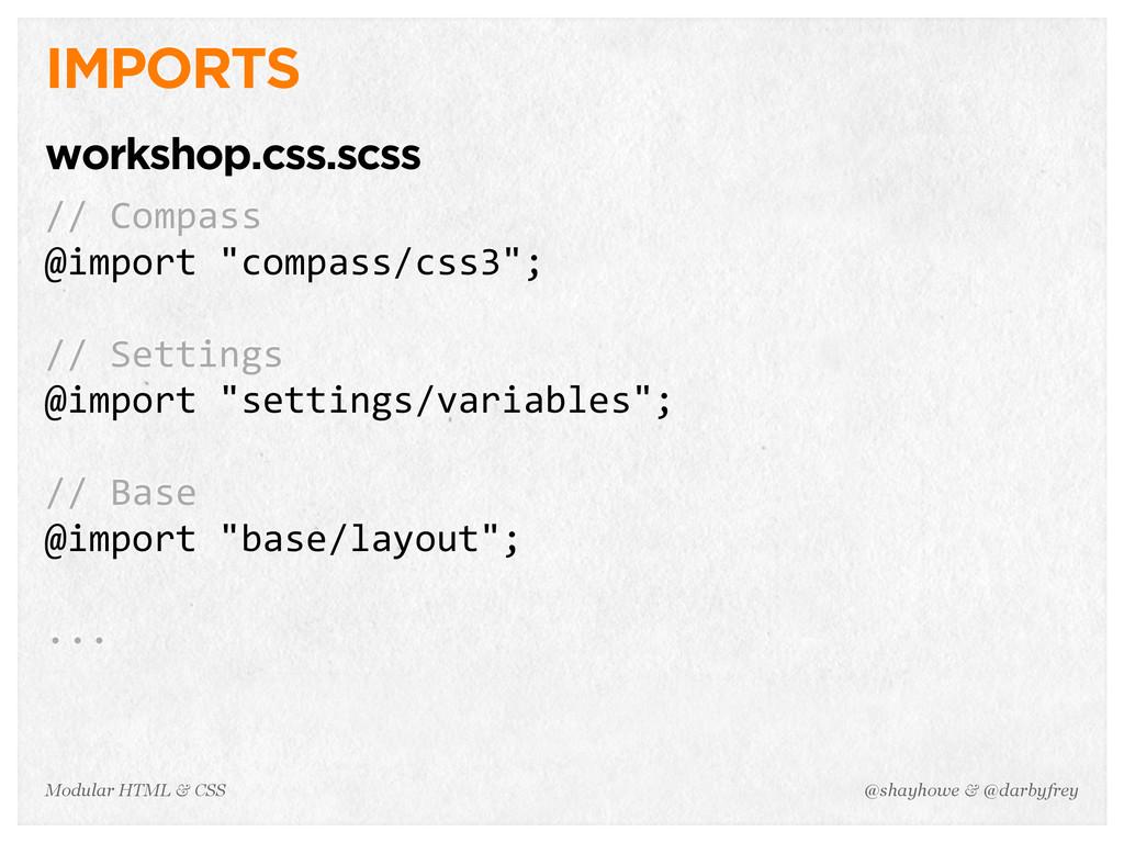 @shayhowe & @darbyfrey Modular HTML & CSS IMPOR...