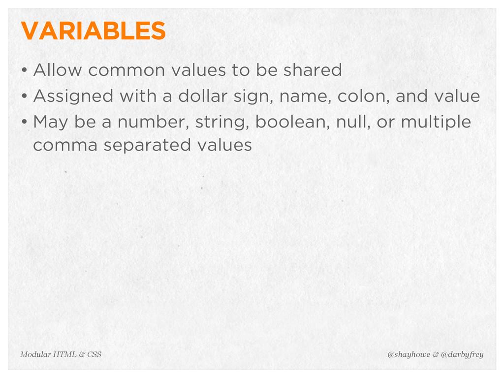 @shayhowe & @darbyfrey Modular HTML & CSS VARIA...