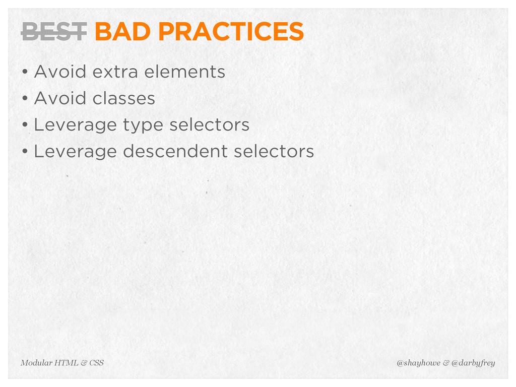 @shayhowe & @darbyfrey Modular HTML & CSS BEST ...