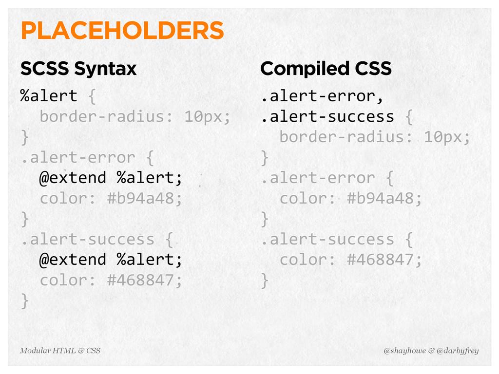 @shayhowe & @darbyfrey Modular HTML & CSS PLACE...