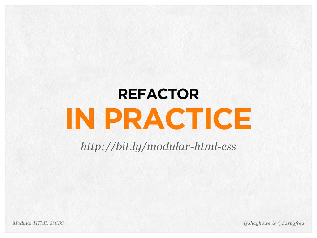 @shayhowe & @darbyfrey Modular HTML & CSS REFAC...