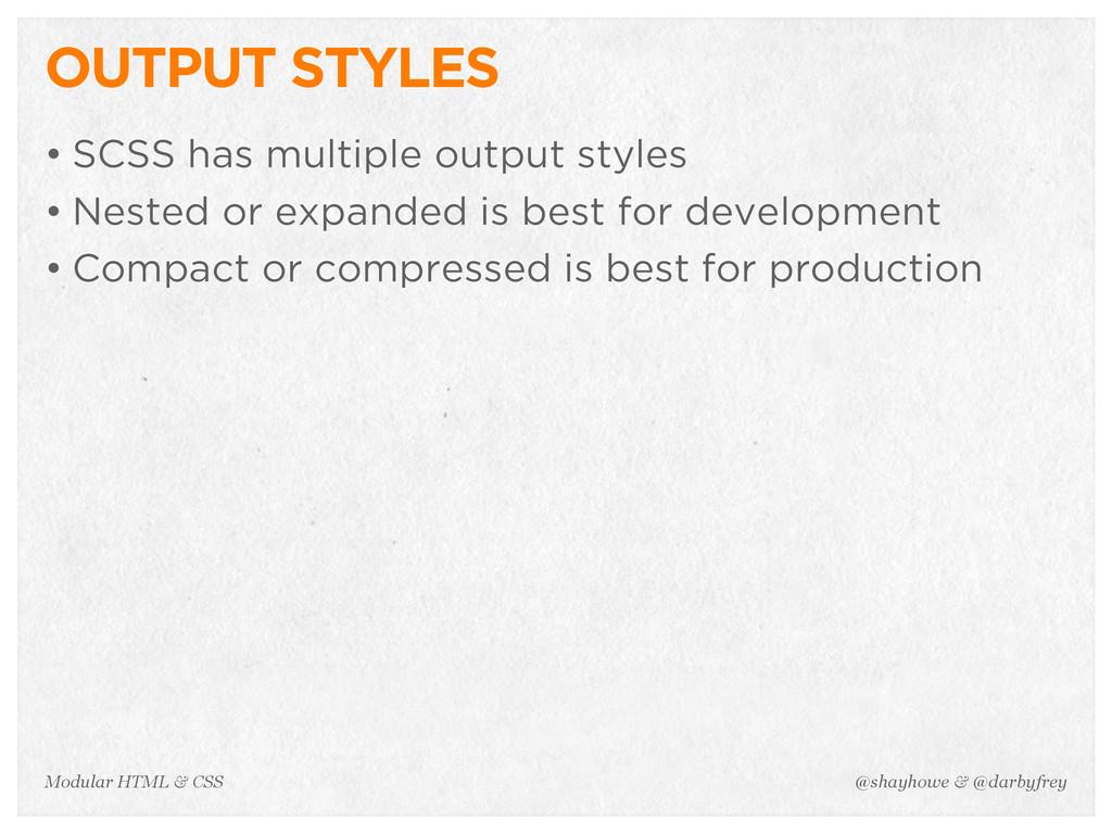 @shayhowe & @darbyfrey Modular HTML & CSS OUTPU...