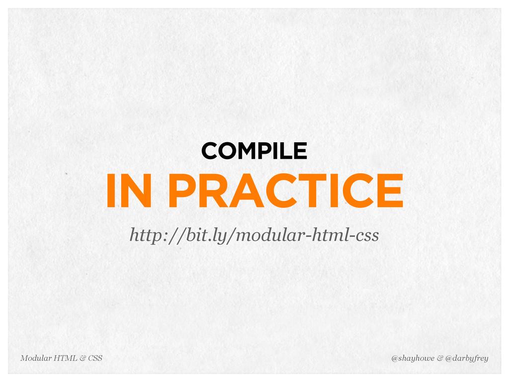 @shayhowe & @darbyfrey Modular HTML & CSS COMPI...