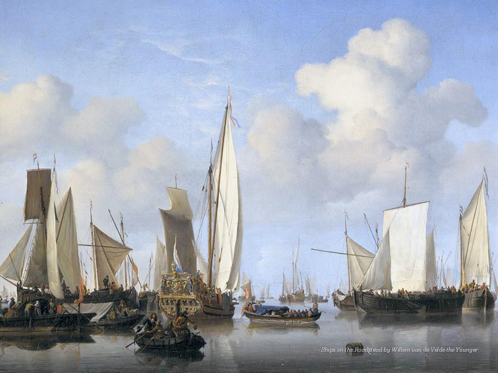 Ships on the Roadstead by Willem van de Velde t...