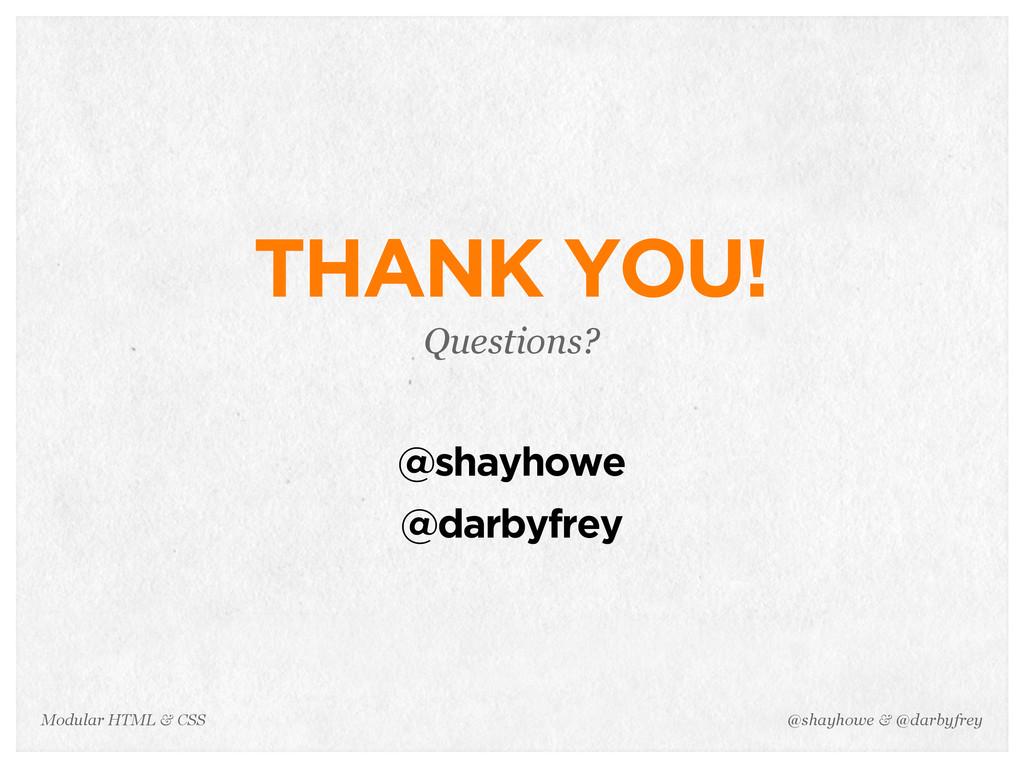 @shayhowe & @darbyfrey Modular HTML & CSS THANK...