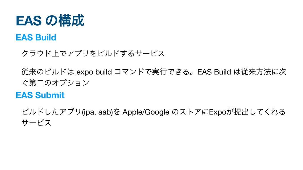 EAS ͷߏ EAS Build Ϋϥυ্ͰΞϓϦΛϏϧυ͢ΔαʔϏε  ैདྷͷϏϧυ ...