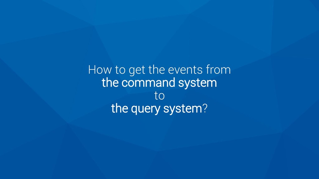 How to get the events from the command system t...