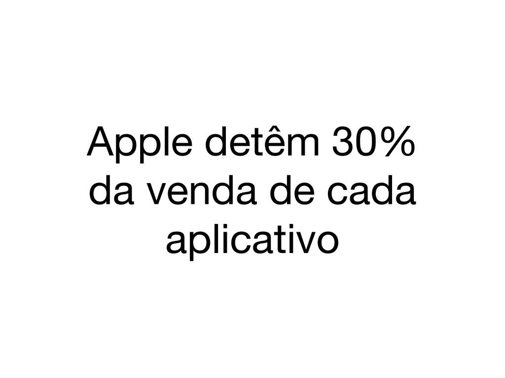 Apple detêm 30% da venda de cada aplicativo
