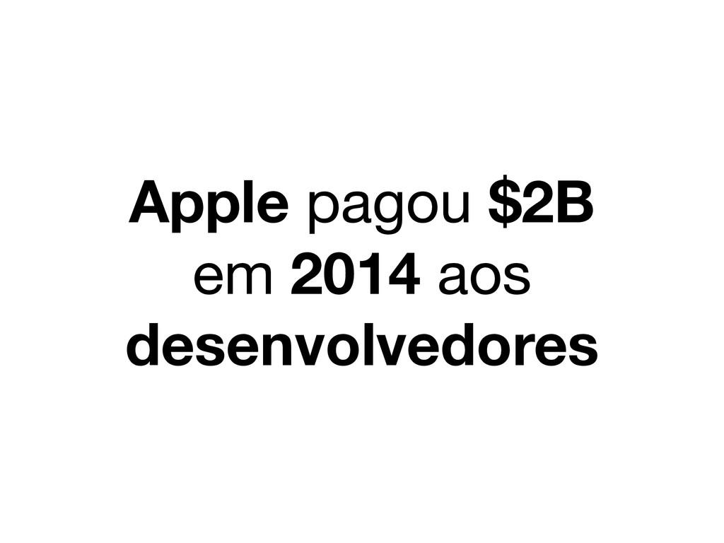 Apple pagou $2B em 2014 aos desenvolvedores