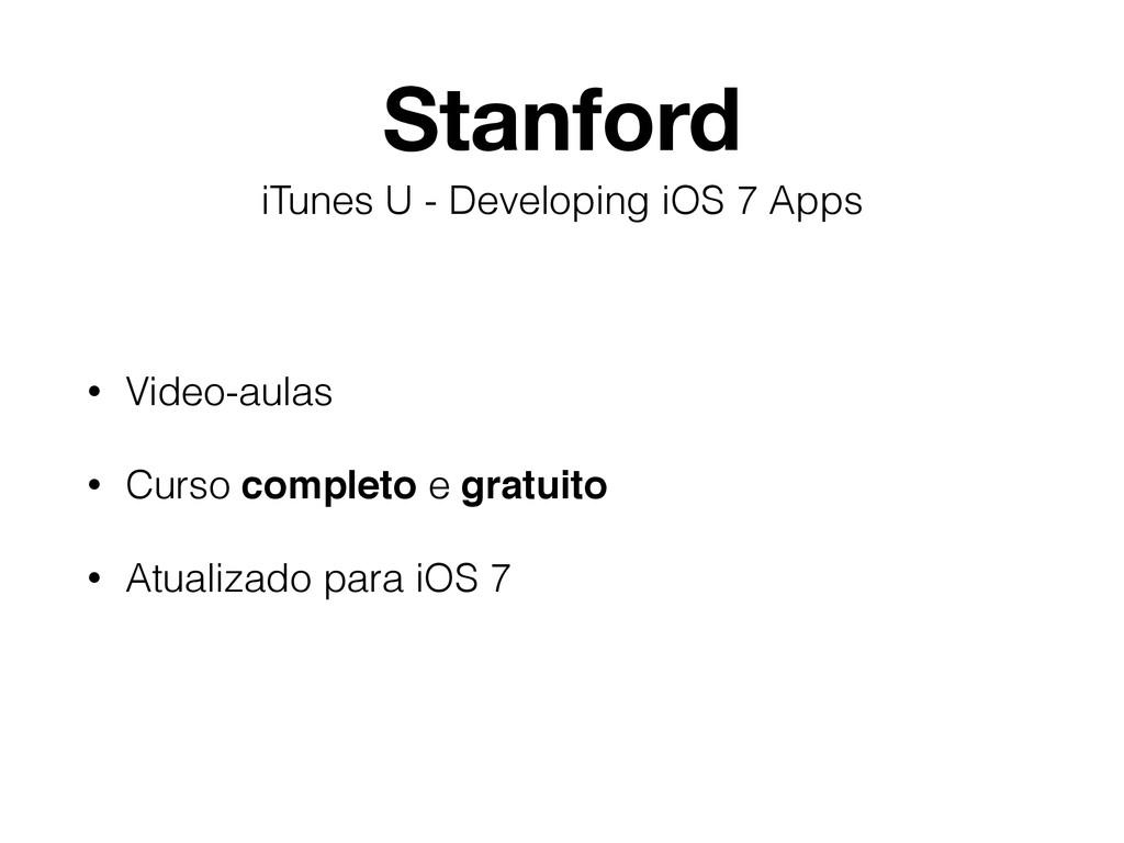 Stanford • Video-aulas • Curso completo e gratu...