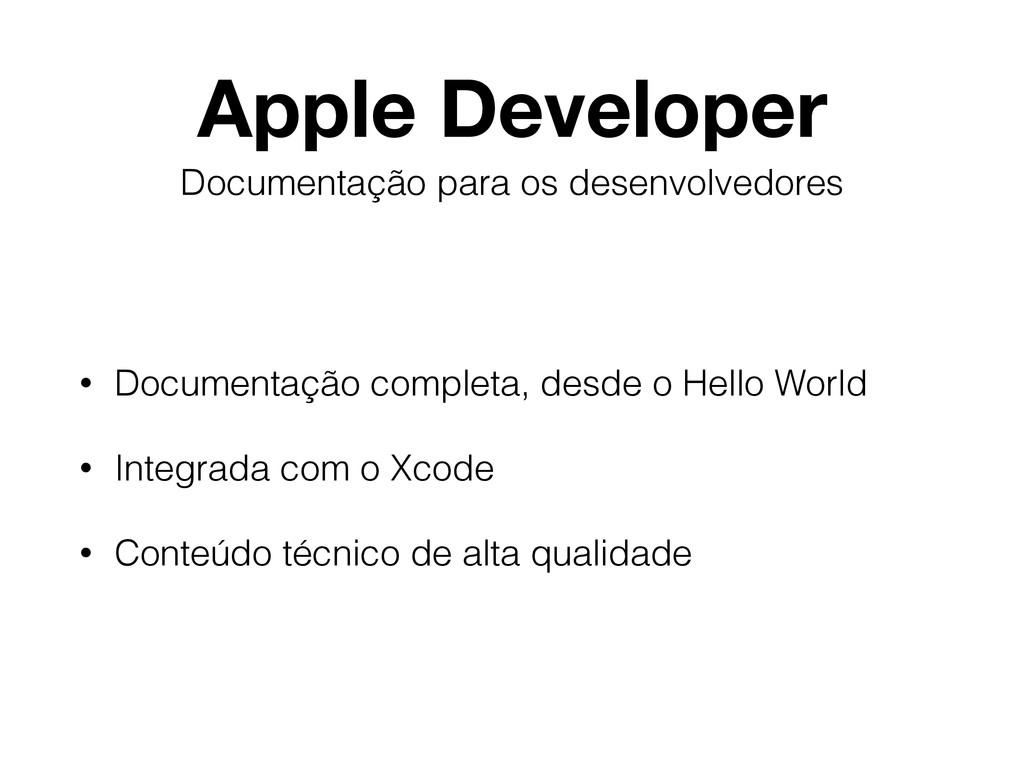 Apple Developer • Documentação completa, desde ...