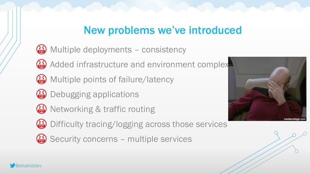 @shahiddev New problems we've introduced  Multi...