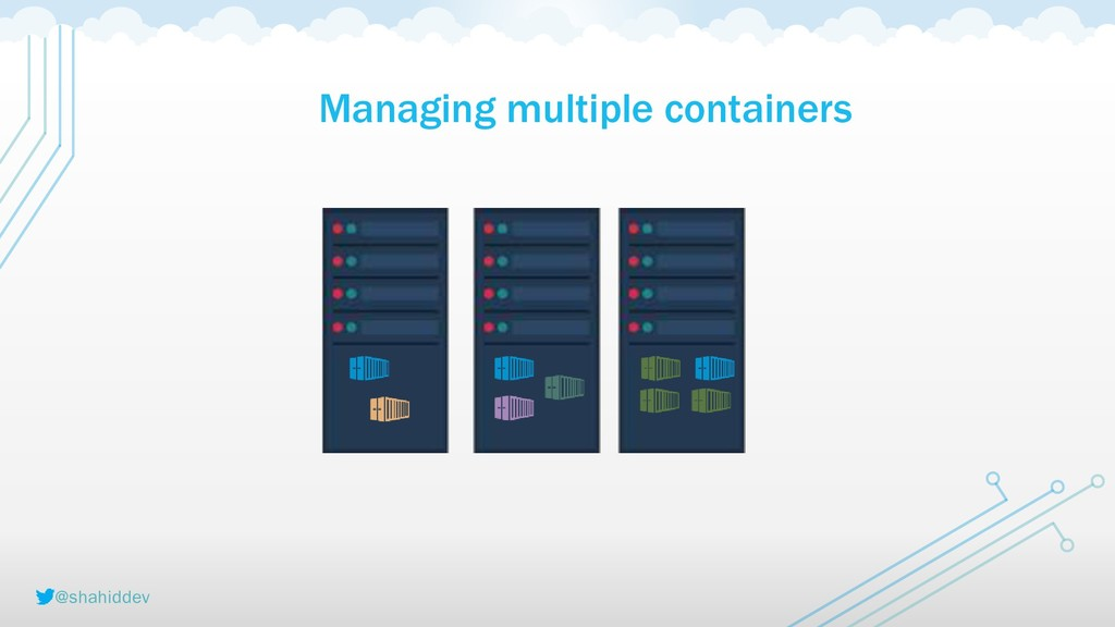 @shahiddev Managing multiple containers