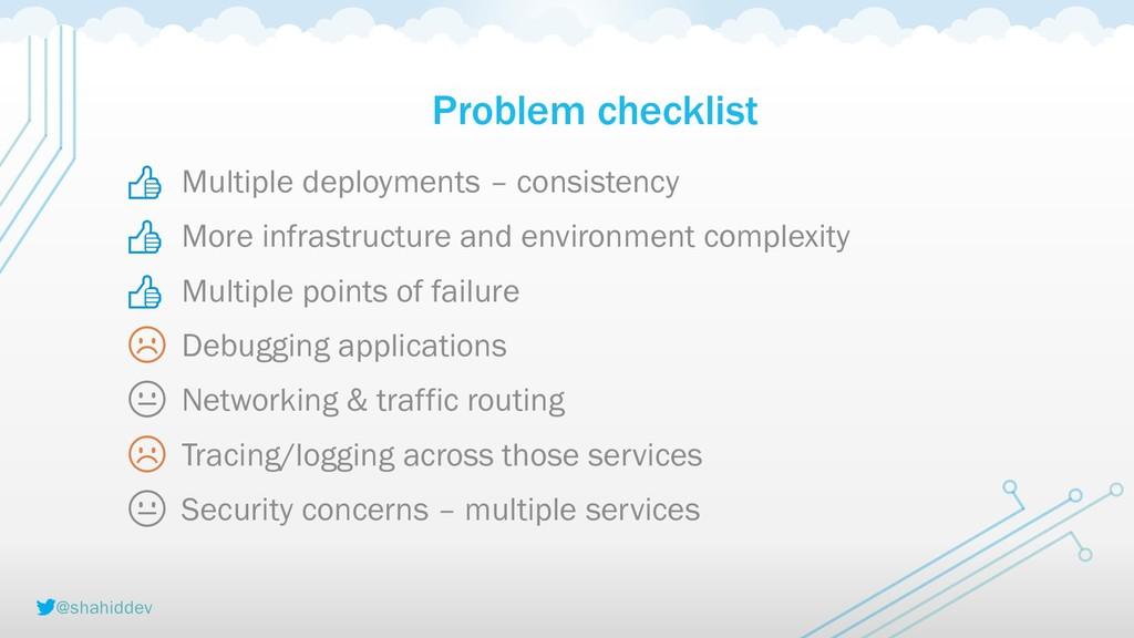 @shahiddev Problem checklist    ☹  ☹  Multiple ...
