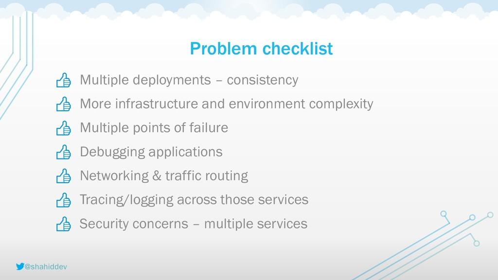 @shahiddev Problem checklist        Multiple de...