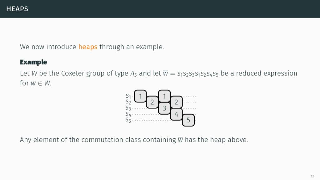 heaps We now introduce heaps through an example...