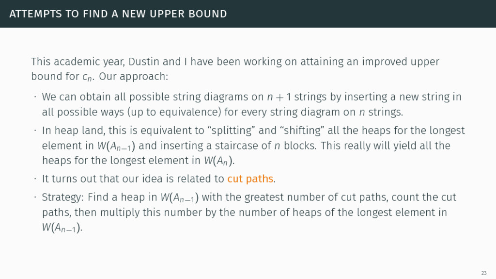 attempts to find a new upper bound This academi...
