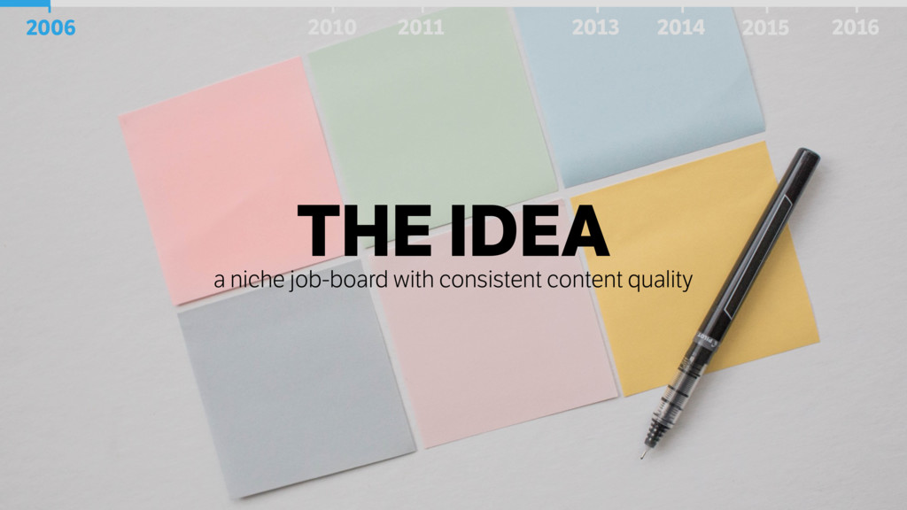 THE IDEA a niche job-board with consistent cont...