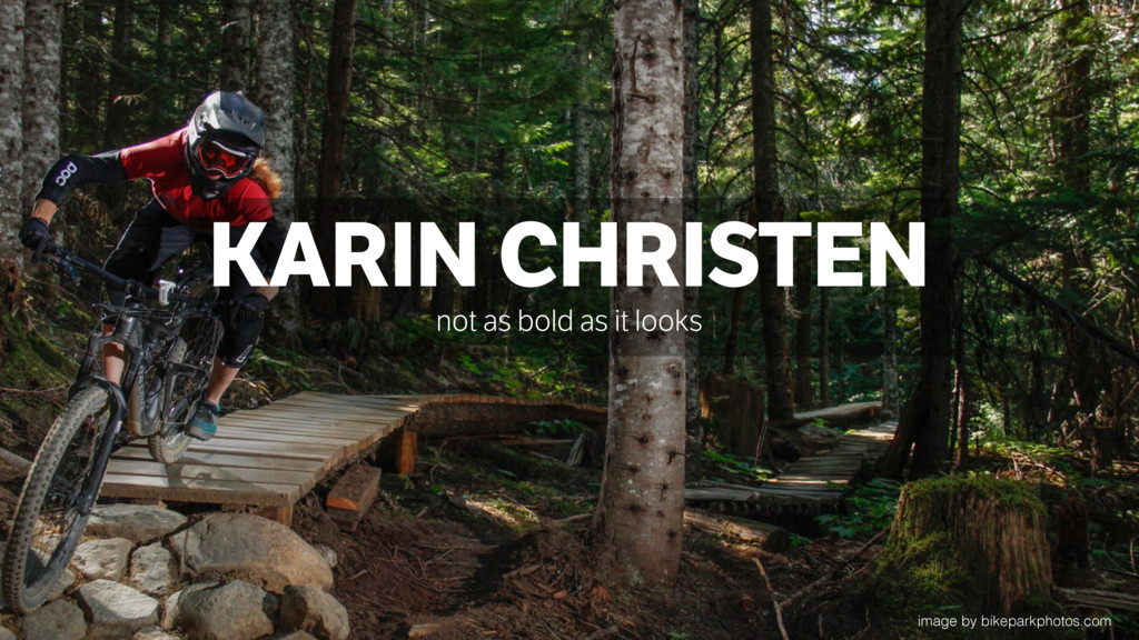KARIN CHRISTEN not as bold as it looks image by...