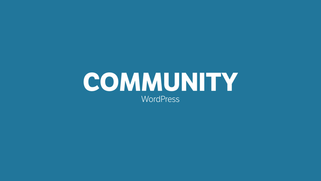 COMMUNITY WordPress