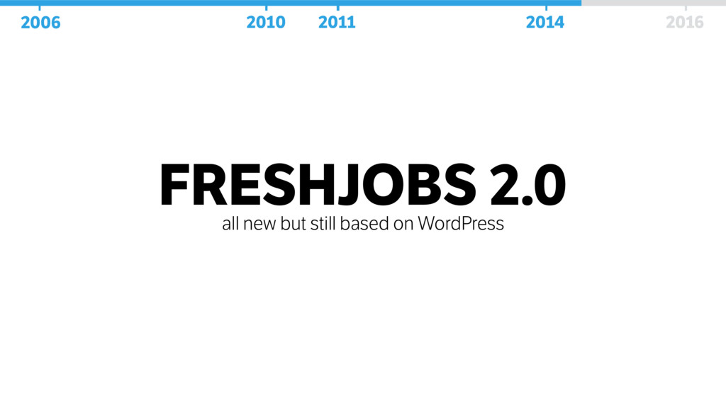 FRESHJOBS 2.0 all new but still based on WordPr...
