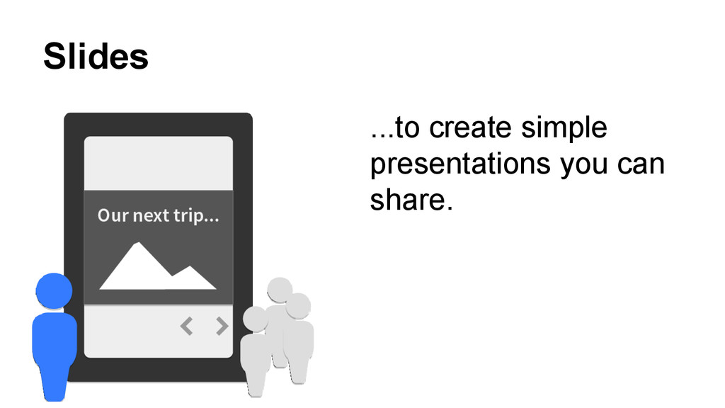 Slides ...to create simple presentations you ca...