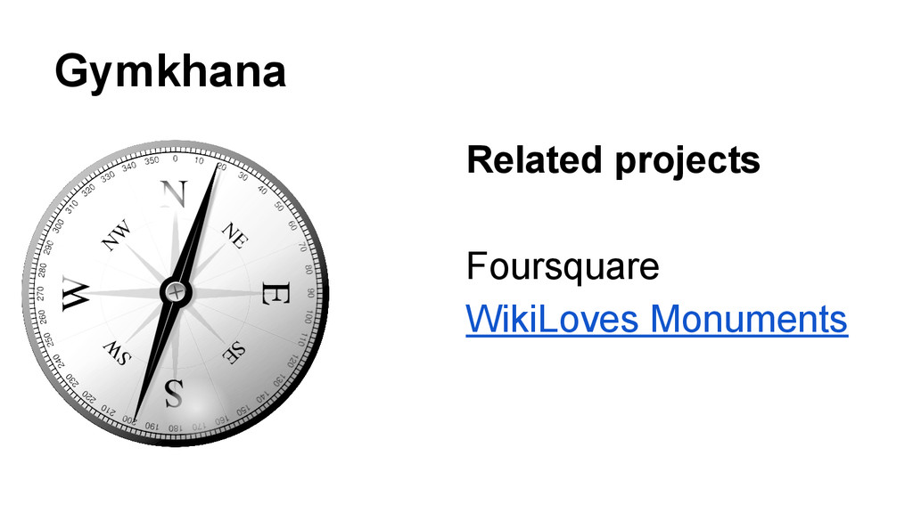 Gymkhana Related projects Foursquare WikiLoves ...