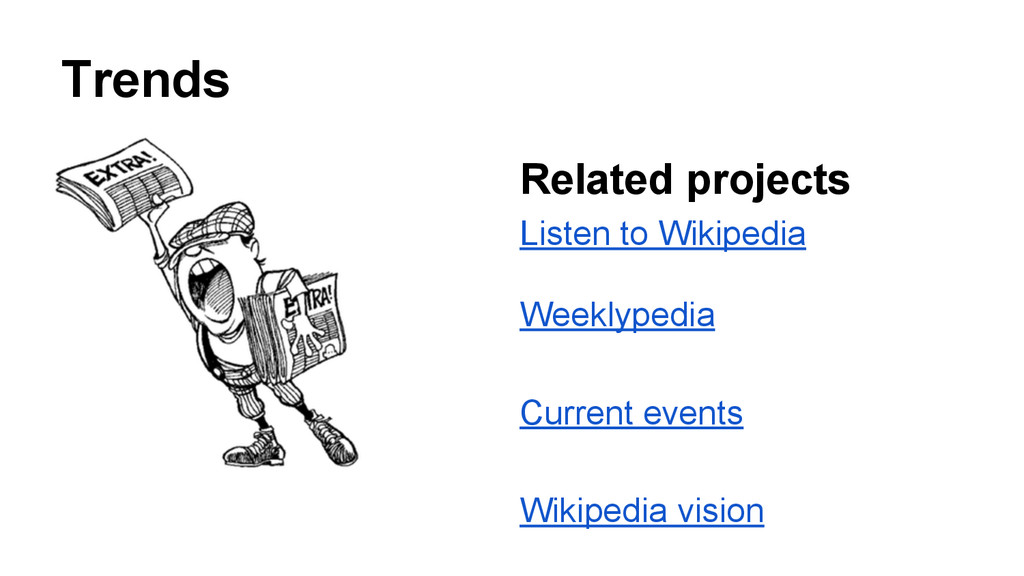 Trends Related projects Listen to Wikipedia Wee...