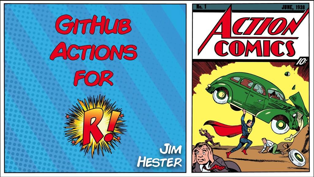 GitHub Actions for Jim Hester