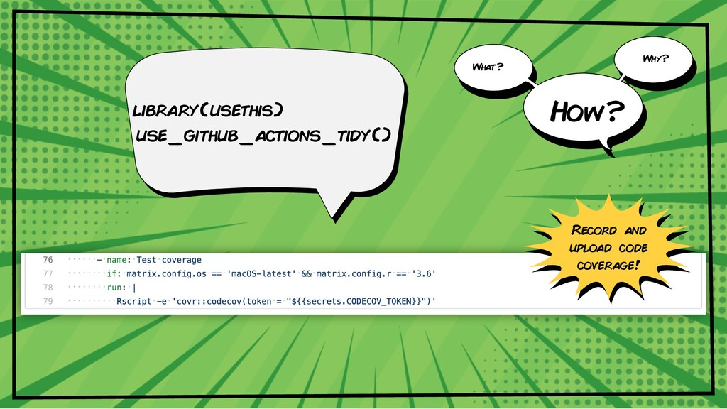 library(usethis) use_github_actions_tidy() What...