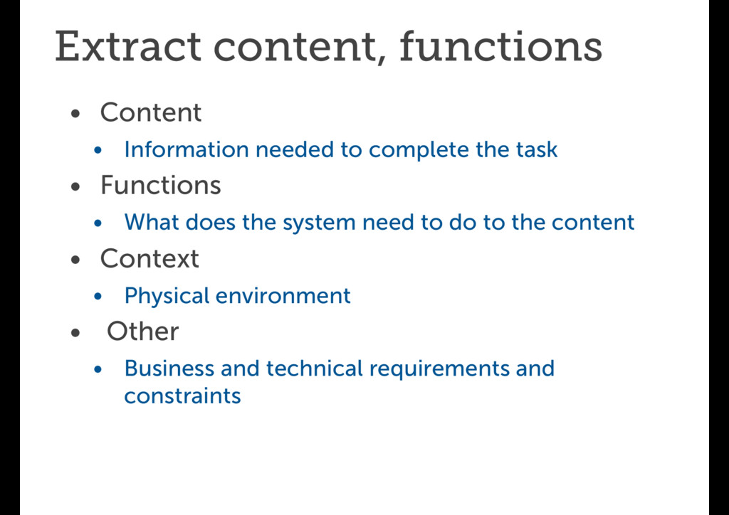 Extract content, functions • Content • Informat...