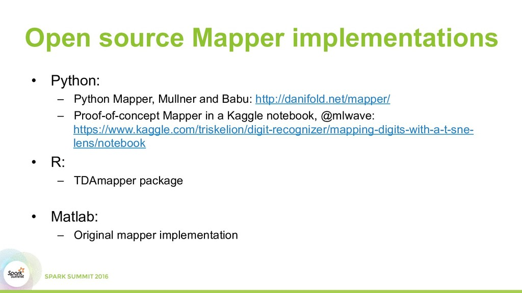 Open source Mapper implementations •  Python: –...
