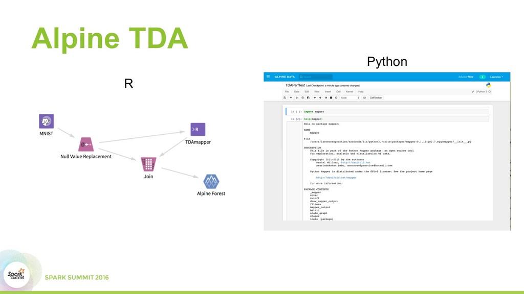 Alpine TDA R Python