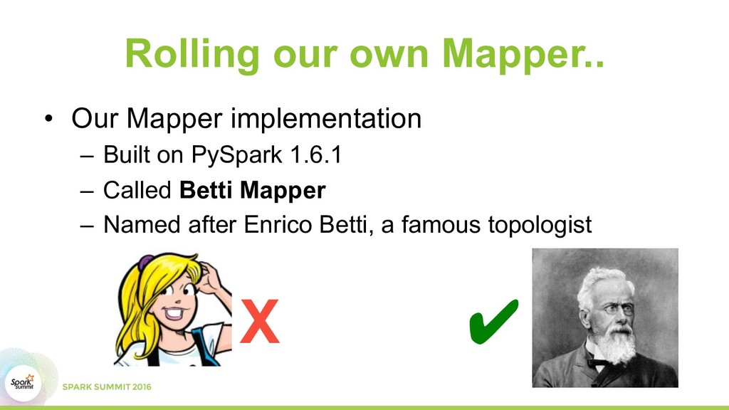 Rolling our own Mapper.. •  Our Mapper implemen...