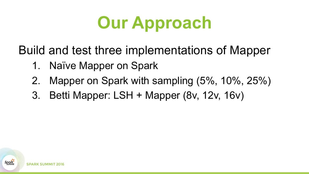 Our Approach Build and test three implementatio...