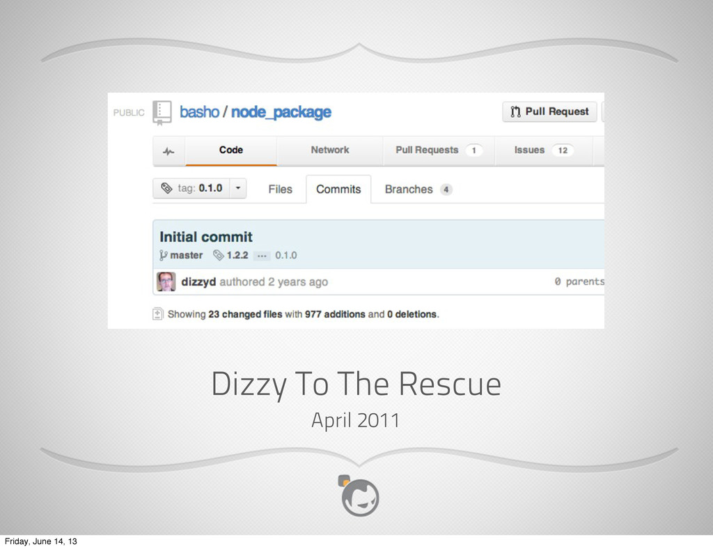 Dizzy To The Rescue April 2011 Friday, June 14,...