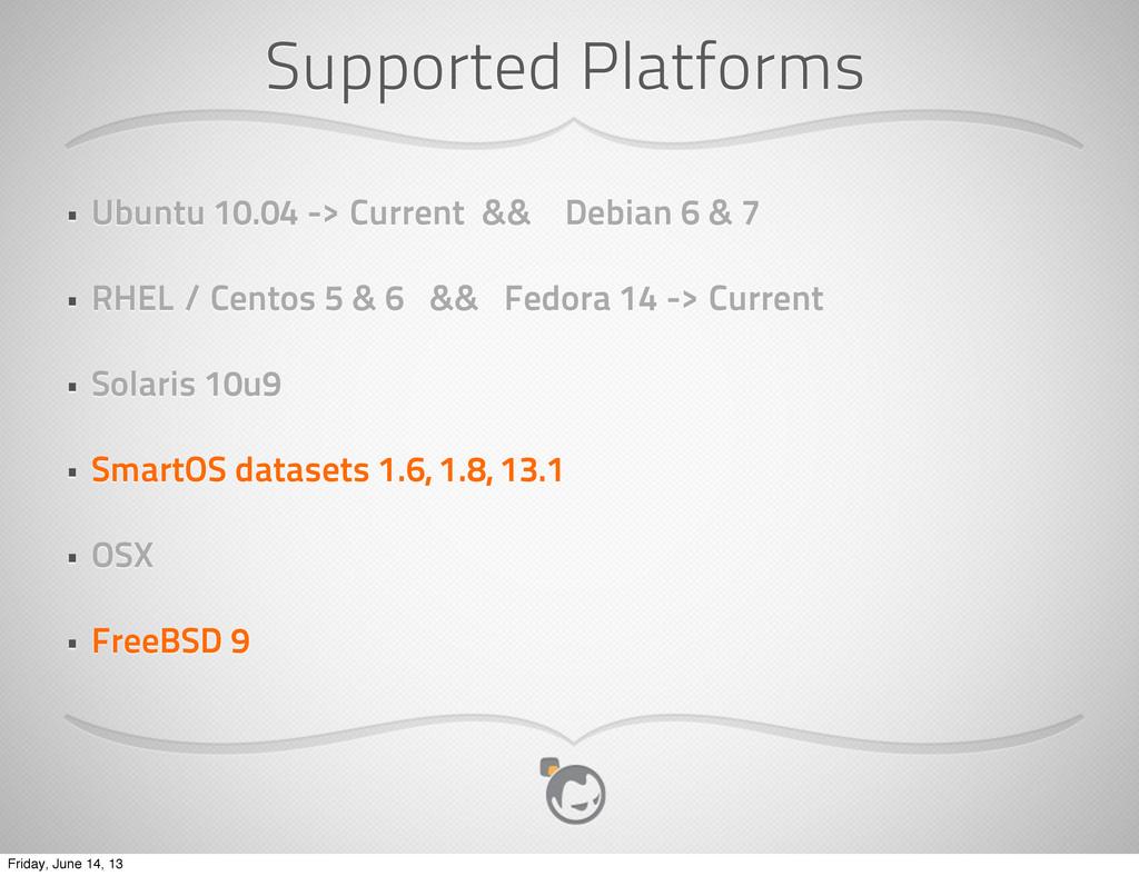 Supported Platforms • Ubuntu 10.04 -> Current &...