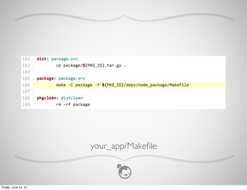 Text your_app/Makefile Friday, June 14, 13
