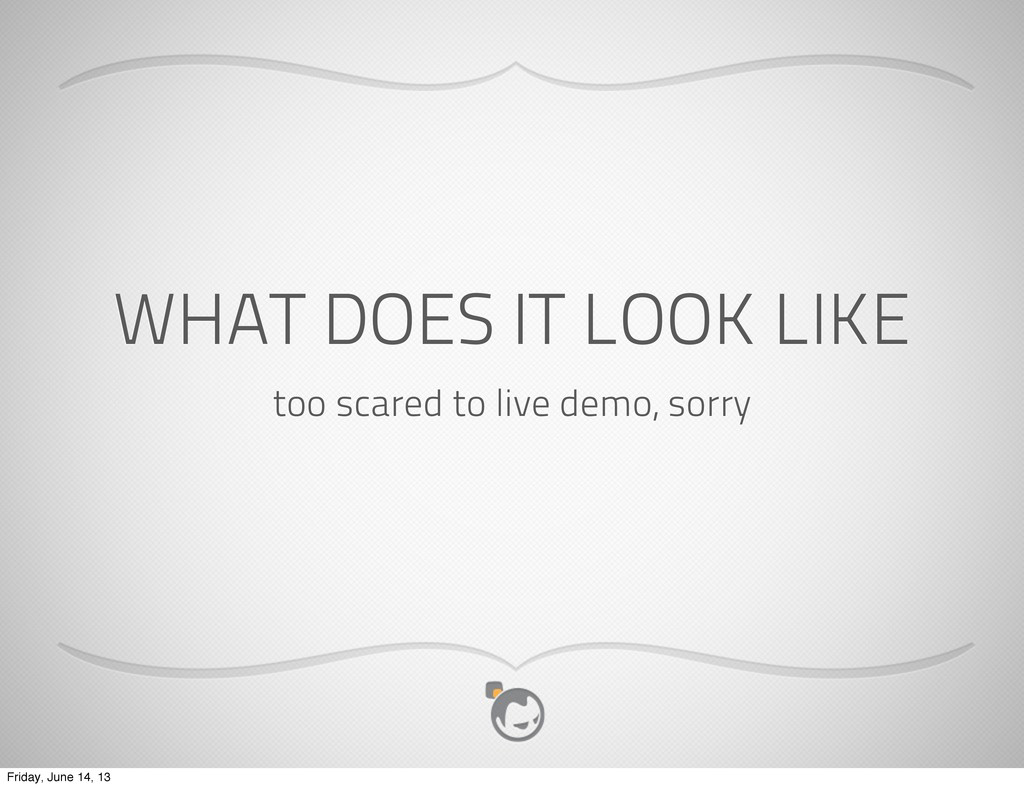 WHAT DOES IT LOOK LIKE too scared to live demo,...