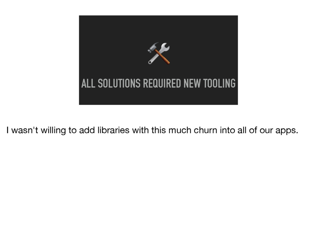 ALL SOLUTIONS REQUIRED NEW TOOLING I wasn't wi...