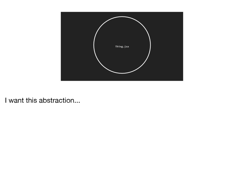 Thing.jsx I want this abstraction...